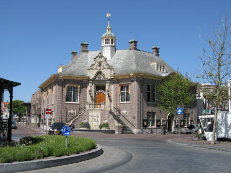 zandvoort town hall stadhuis near haarlem holland. Black Bedroom Furniture Sets. Home Design Ideas